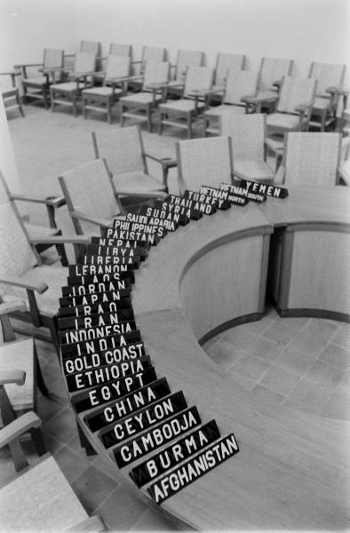 Place Markers at the Bandung Afro-Asian Conference, 1955. (Life Magazine, April 1955)