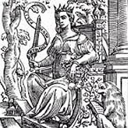The illustration of 'ACADEMIA' on this webpage is taken from the 1630 edition of Cesare Ripa's famous Iconologia, which was first published in Rome in 1593.